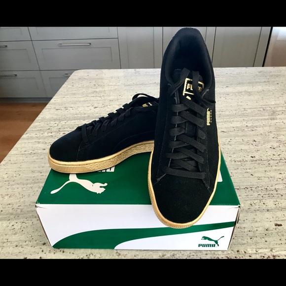 new style 13381 c43bd Puma Shoes | Suede Classic Grade School Blackgoldcopper | Poshmark